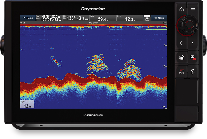 PRO S - Display with single channel CHIRP sonar